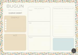 Süresiz Günlük Planlayıcı - Geometrik Desenli