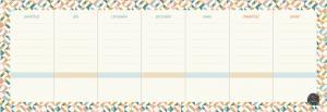 Süresiz Haftalık Planlayıcı – Geometrik Desenli - Model 2