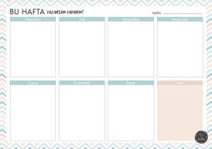 Süresiz Haftalık Planlayıcı – Zikzak Desenli