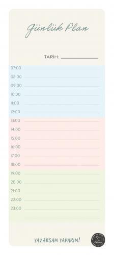 Günlük Planlayıcı - Bloknot